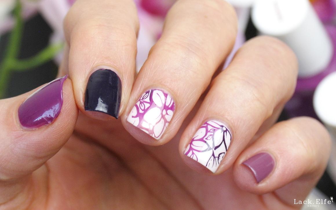 lila gradient stamping blumen essie flowerista island hopping fiji kimono-over