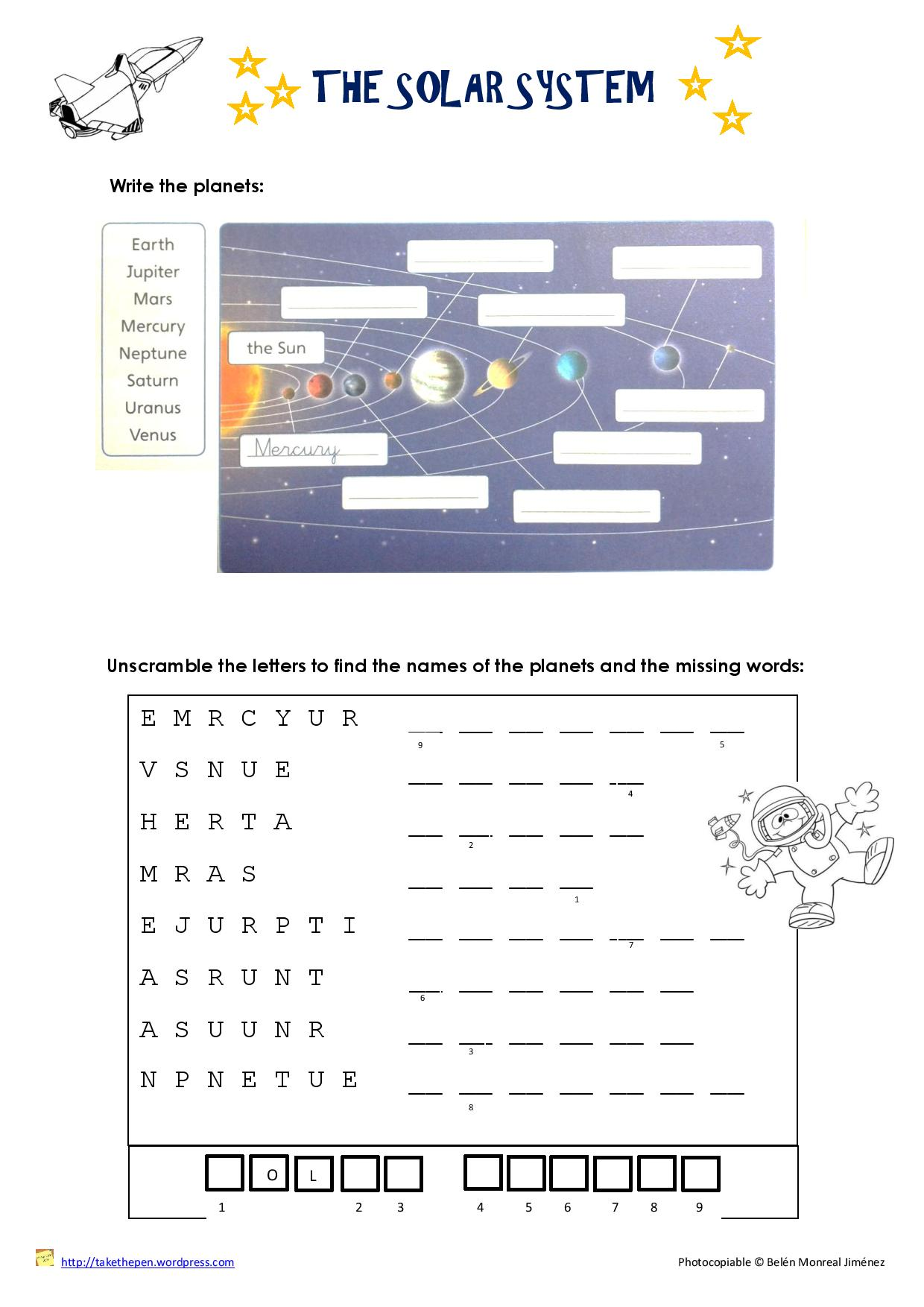 The Earth System Worksheet