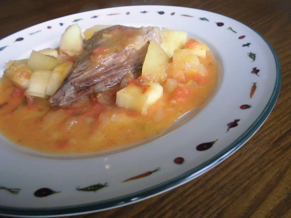 Receta Sobrebarriga en salsa