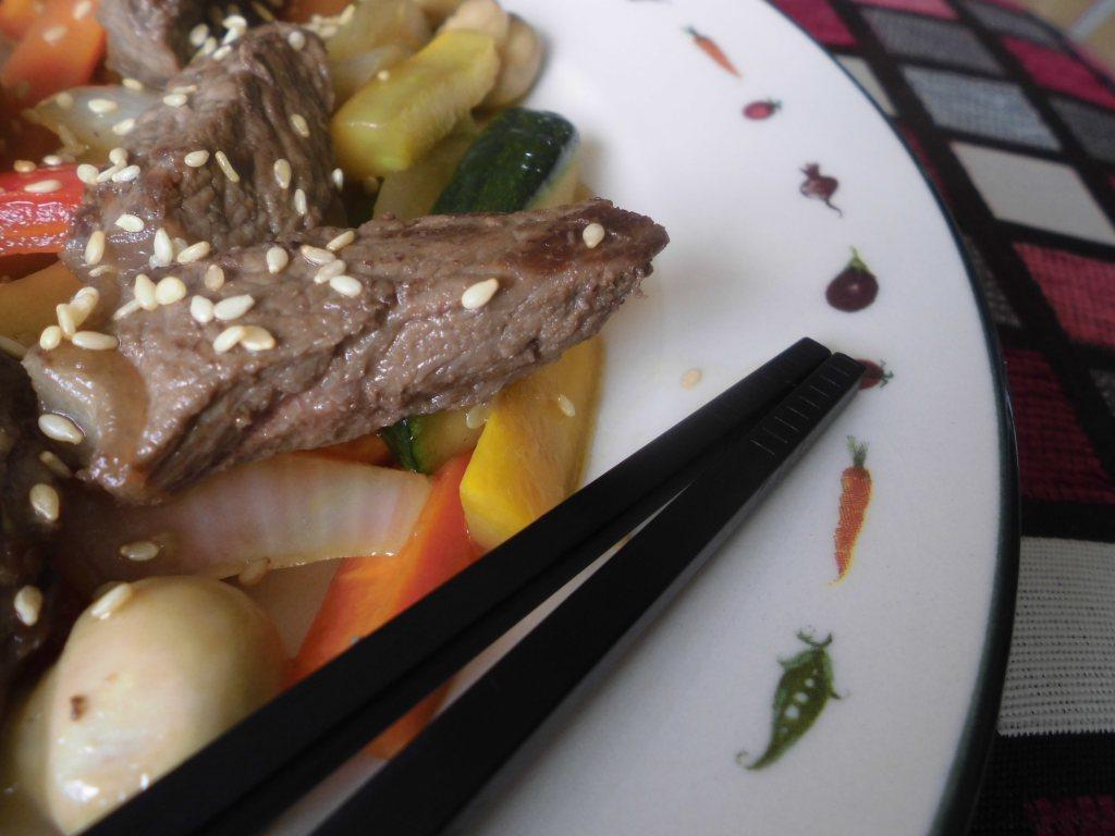 Receta Wok de vereduras con carne de res