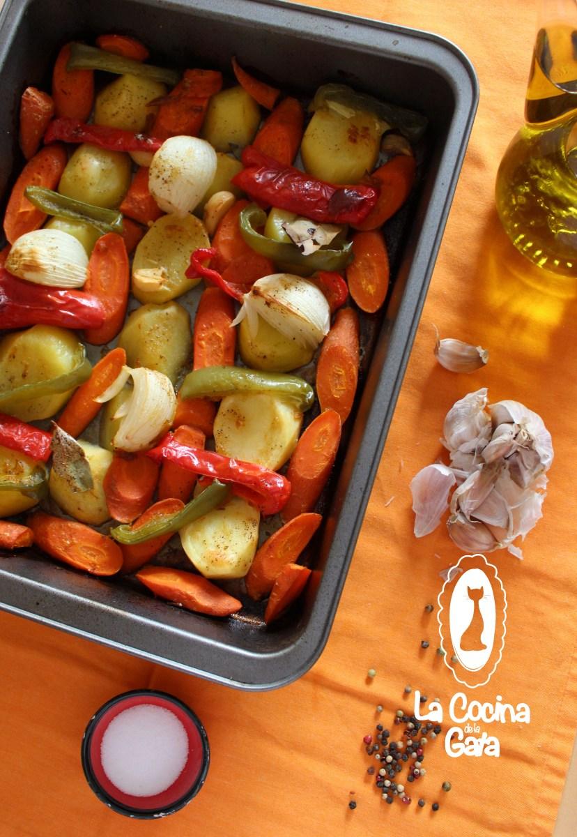 Verduras asadas con mermelada de ciruelas