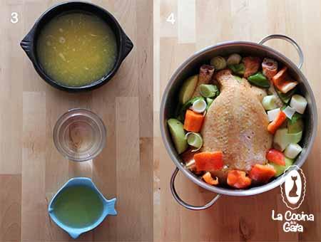 Paso a paso del pollo al horno con manzanas y especies