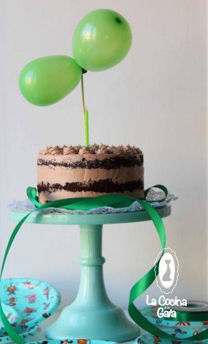 Bizcocho (Naked cake) de Cacao y Nutella