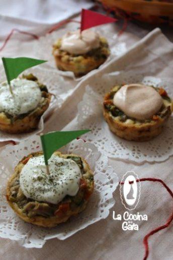 Muffings de verduras y setas