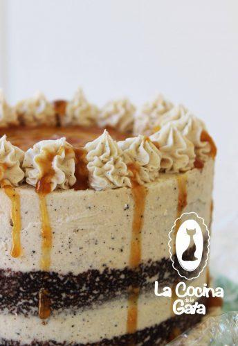 Tarta especiada con toffee de plátano y brown buttercream