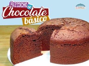 Bizcocho de chocolate básico - Jugoso, esponjoso y delicioso