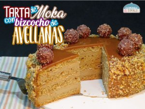 Tarta de moka (café) con bizcocho de avellanas