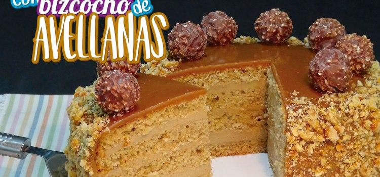 Tarta de moka (café) con bizcocho de avellanas ¡Riquísima!