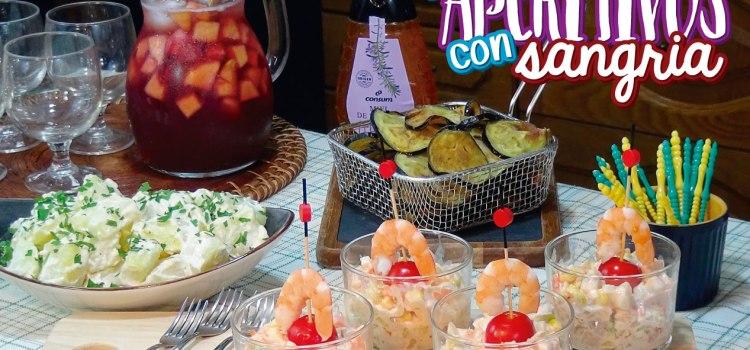 Entrantes o aperitivos con sangría RIQUÍSIMOS para una comida informal