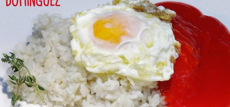 Arroz a La Cubana a mi manera (Un arroz blanco perfecto y sin plátano)