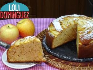 Bizcocho de nata y manzana súper jugoso y muy fácil, este es un bizcocho con mucho sabor y de miga densa pero muy jugosa