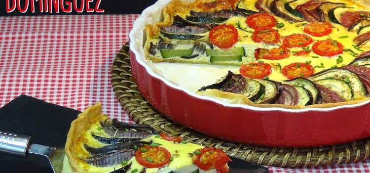 Tarta de verduras al horno SUPER FACIL. Loli Domínguez