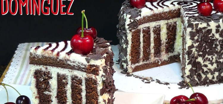Tarta Selva Negra rallada ¡Sorprendente y original! Loli Domínguez