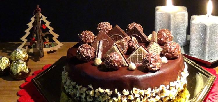 Cheesecake Ferrero Rocher Especial para Navidad. Loli Domínguez