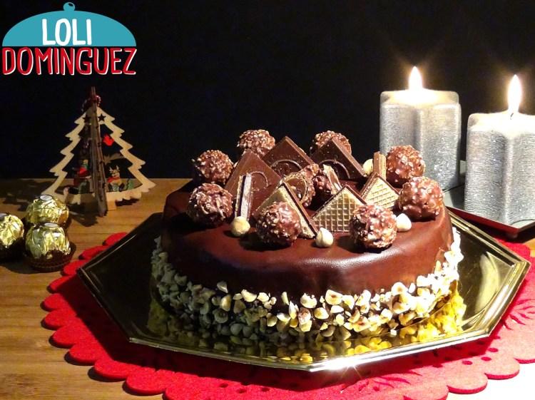 Cheesecake Ferrero Rocher Especial para Navidad. Una tarta fácil y deliciosa que a todos les encantara cuando la saquemos a la mesa