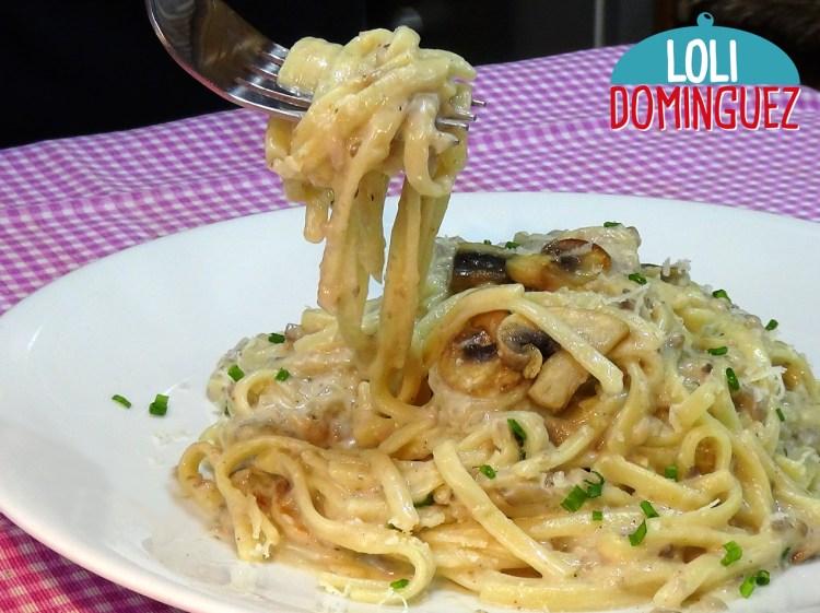 Cómo hacer Pasta (Tallarines, spaghetti, macarrones, Etc.) con salsa de setas