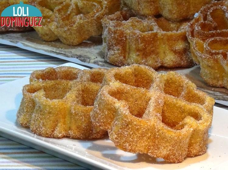 Receta de Flores Manchegas súper crujientes o Solteritas. Dulce tradicional que se suele preparar en Cuaresma, Carnaval y Semana Santa en Castilla La Mancha