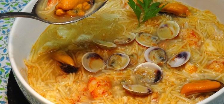 Sopa de pescado y marisco o Sopa Marinera. Receta fácil. La más deliciosa sopa que puedas imaginarte