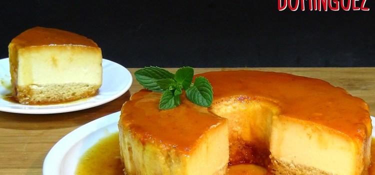 Tarta de queso cremoso con bizcocho (Flancocho). Loli Domínguez