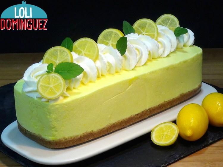 Tarta de limón sin horno, fácil y rápida ideal para postre porque es muy ligera y refrescante