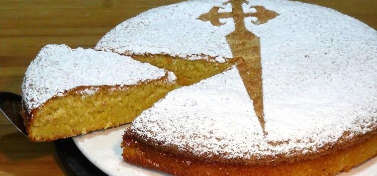 Tarta de Santiago fácil (Tarta de almendras) sin gluten y sin lactosa