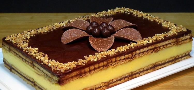 TARTA DE FLAN CON GALLETAS Y CHOCOLATE, RECETA SIN HORNO