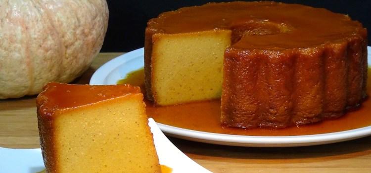 PUDIN DE PAN Y CALABAZA. Receta fácil y deliciosa. En otoño es temporada de calabazas, es su mejor momento por su precio y porqué es cuando más buenas están