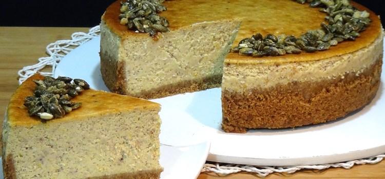 Tarta de queso con calabaza – Pumpkin cheesecake. Loli Domínguez