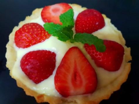 Tartaleta de fresas con crema pastelera