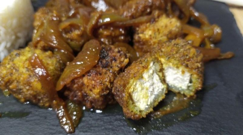como hacer una receta de tofu frito con salsa de soja