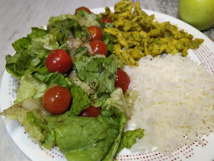 método del plato o el plato de Harvard