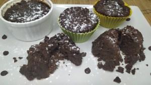 coulant de chocolate sin gluten en microondas