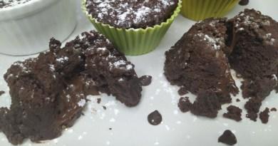 coulant de chocolate sin gluten en el microondas