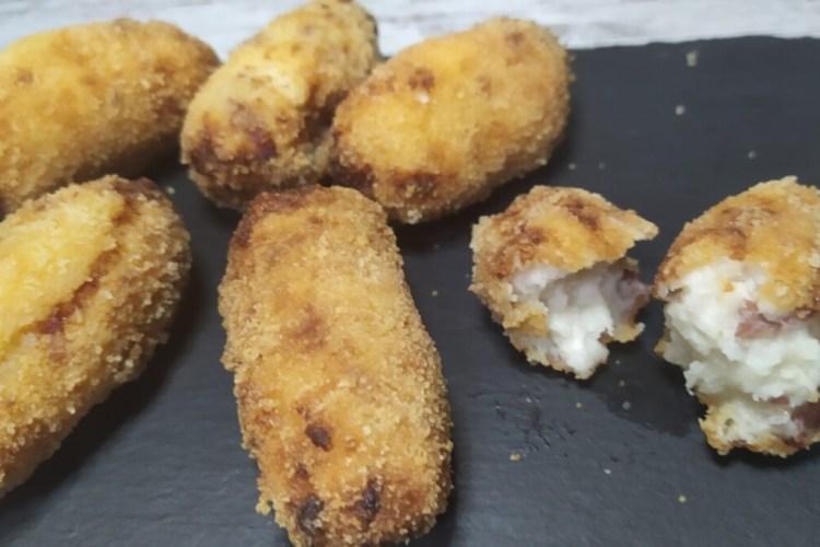 croquetas de jamón sin gluten en el microondas