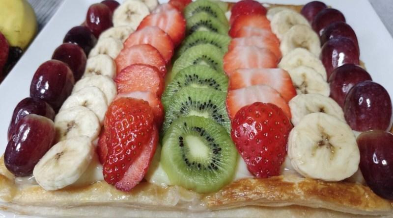 tarta de frutas con hojaldre y crema pastelera. Proscenic T21. Tarta con freidora de aire proscenic t21