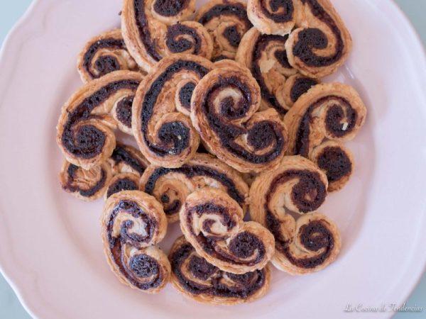 Palmeritas caseras de Nutella
