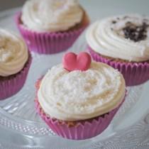 Cupcakes de queso y coco