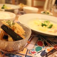 Ensalada de berenjena y apio con salsa de soja