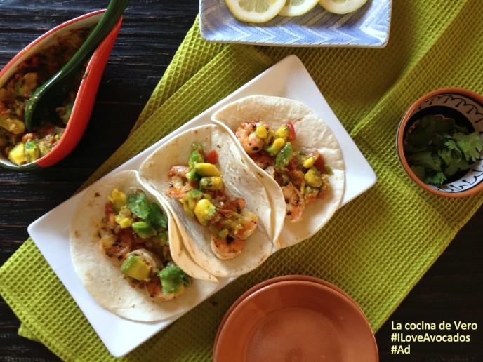 tacos de camarones con avocados from mexico