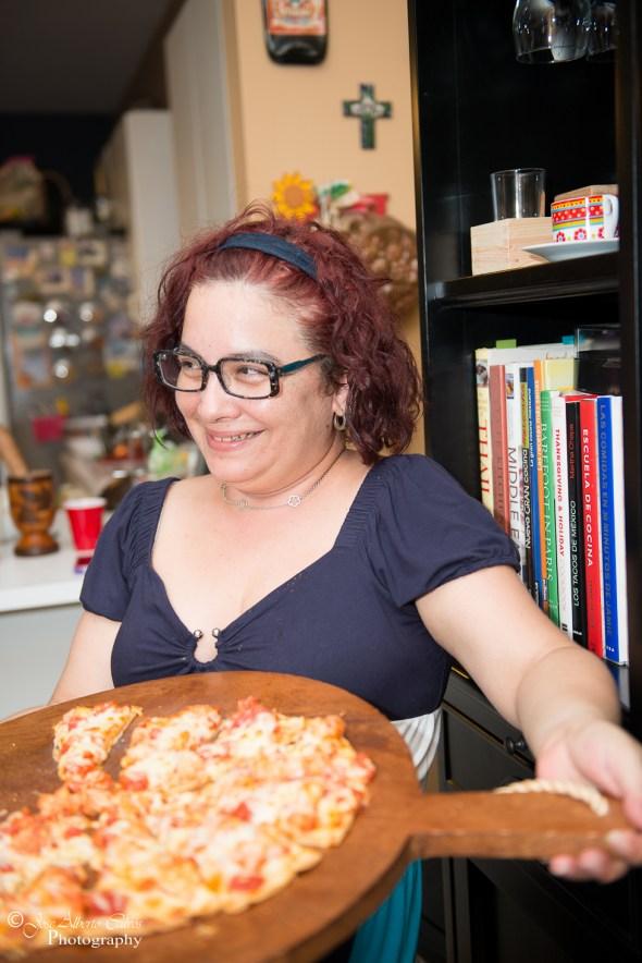 Veronica Cervera - pizza de langosta