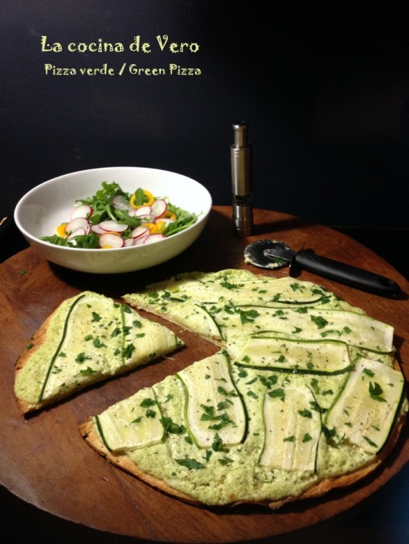 Pizza verde - Green Pizza - La cocina de Vero