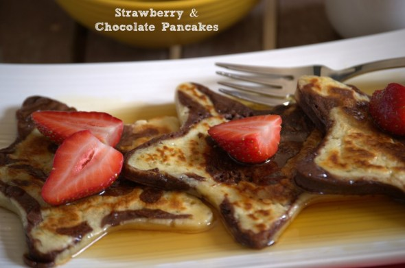Strawberry and Chocolate Pancakes - La cocina de Vero