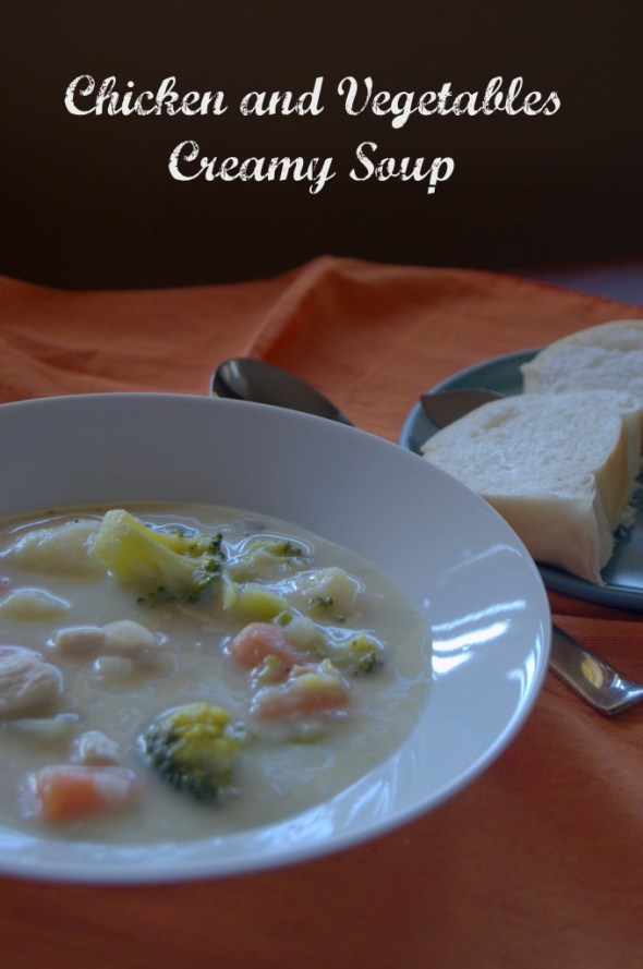 Chicken and Vegetables Creamy Soup