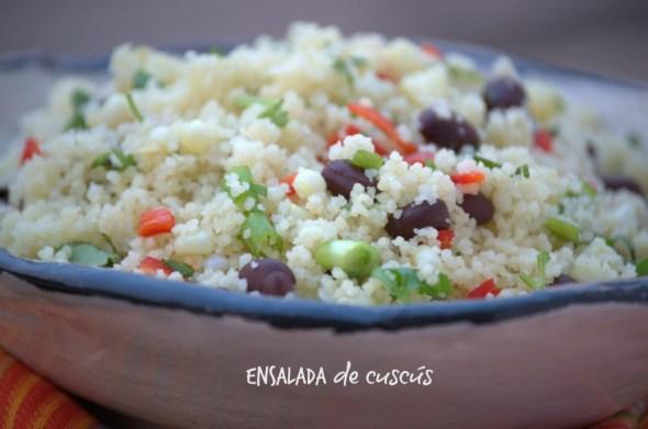 Saludable ensalada de cuscus para el verano.