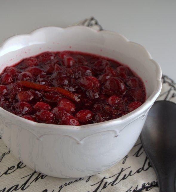 salsa de arandanos rojos