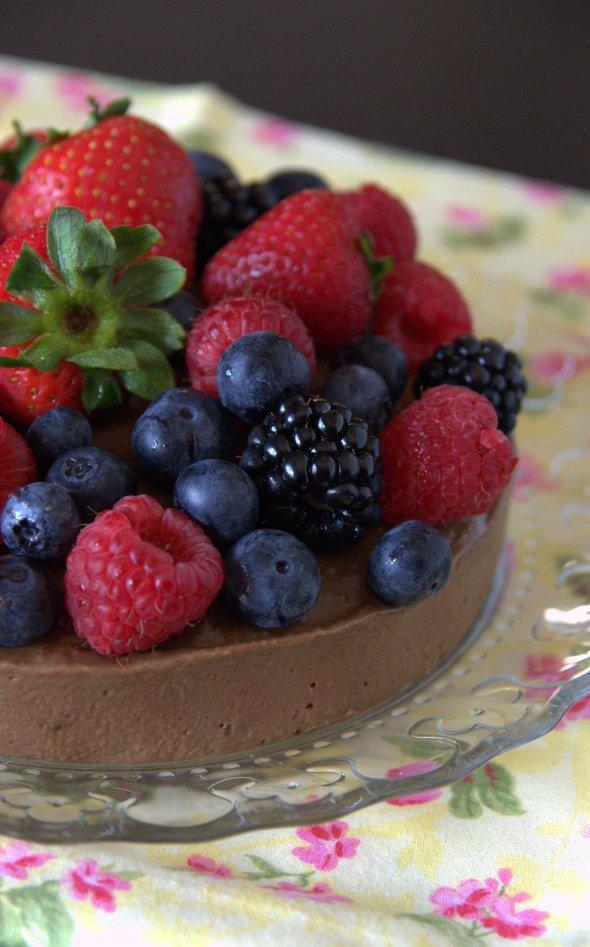 Mousse helado de aguacate y chocolate