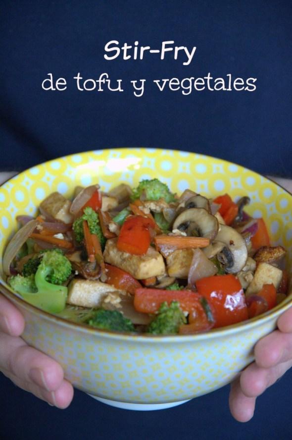 Stir-Fry de tofu y vegetales