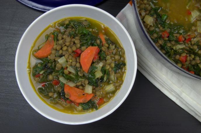Lentejas vegetarianas