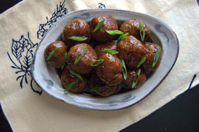 Albóndigas de pavo al teriyaki
