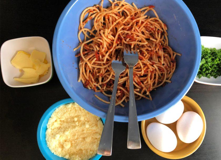 Frittata de espagueti